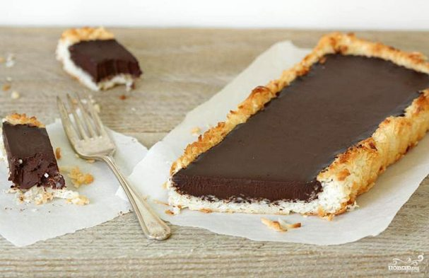 Пирог с шоколадным кремом ганаш