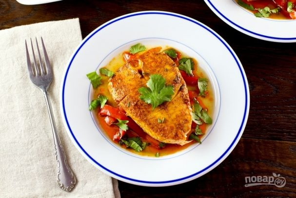 Рыба с соусом по-мароккански