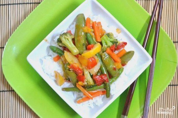 Кисло-сладкий овощной стир-фрай