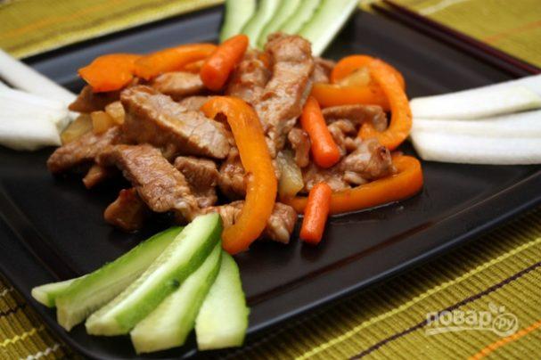 Мясо в кисло-сладком соусе по-китайски