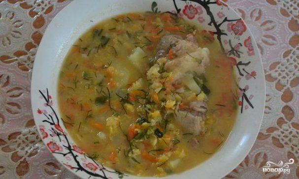 Гороховый суп со свининой в мультиварке