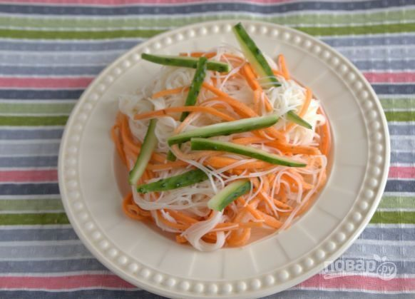 Фунчоза с овощами (классический рецепт)