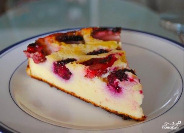 Сливовый пирог без масла