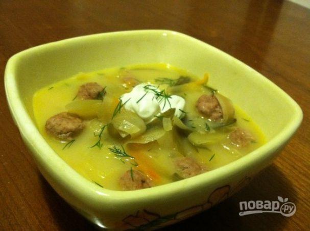 Суп из соленых огурцов