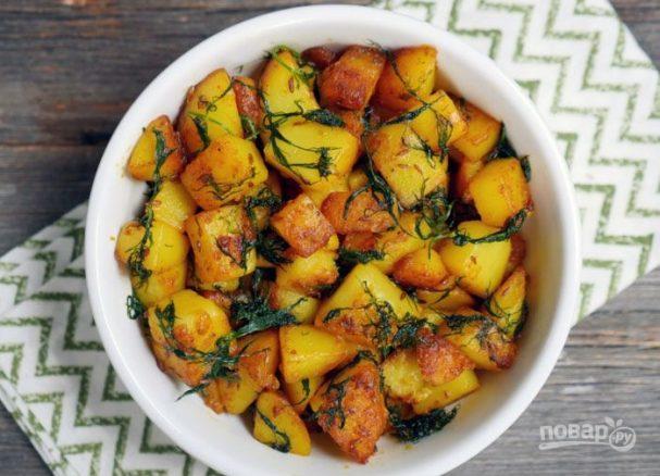 Хрустящая жареная картошка