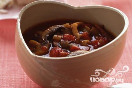 Суп из грибов и помидоров