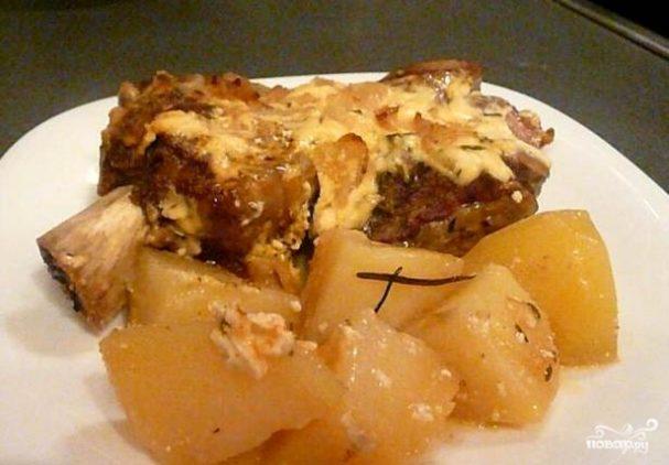 Телятина, запеченная с картофелем