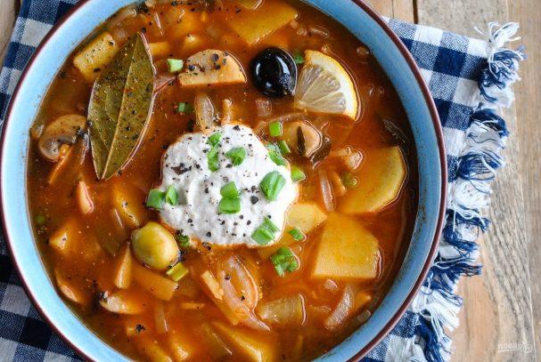 Грибная солянка (суп)