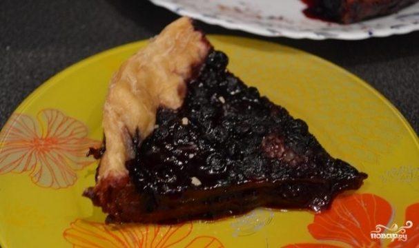 Пирог с черникой в мультиварке