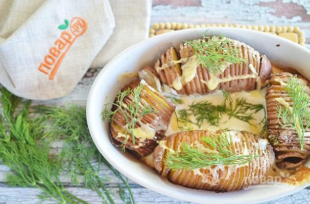 Чипсы из картофеля в мундире с дипом