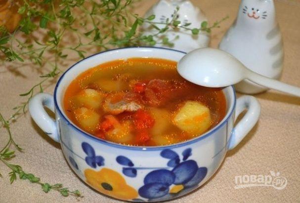 Картофельный суп со свининой
