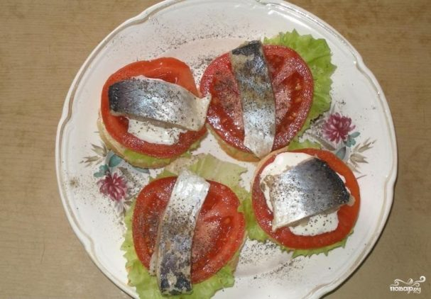 Бутерброды открытые