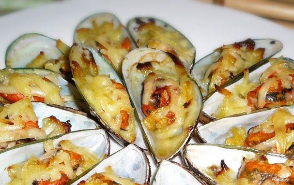 Запеченные мидии рецепт пошагово