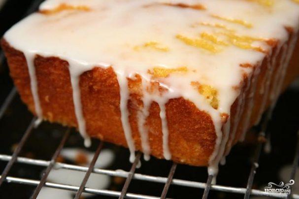 Лимонный кекс в глазури