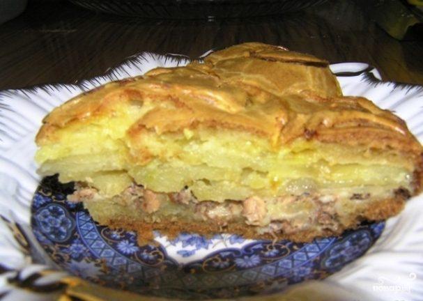 Пирог рыбный с сайрой