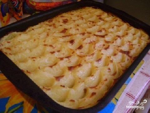 Постная картофельная запеканка
