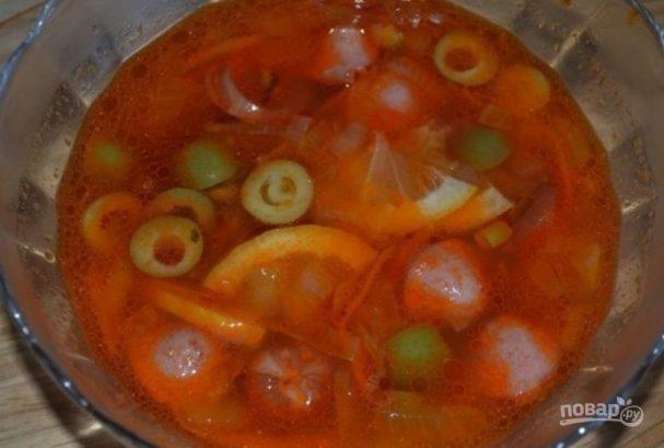 Солянка из сосисок