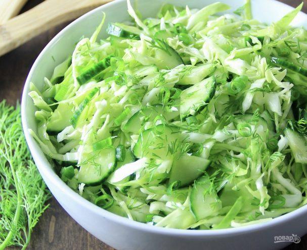 салат из капусты с огурцами рецепты с фото
