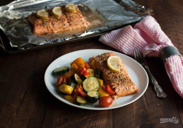 Красная рыба в духовке