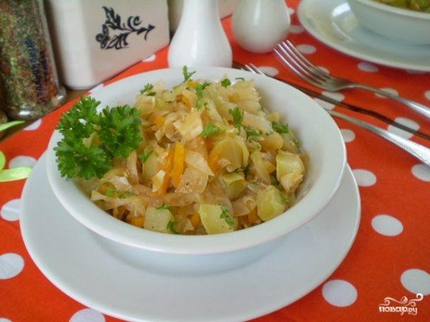 Кабачки, тушеные с овощами