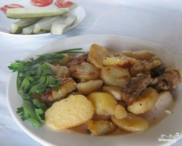 Жареная картошка с говядиной