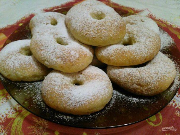 Ванильные пончики на сметане