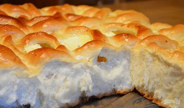 Открытые пирожки с творогом