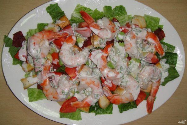 Пошагово рецепты с салата с креветками