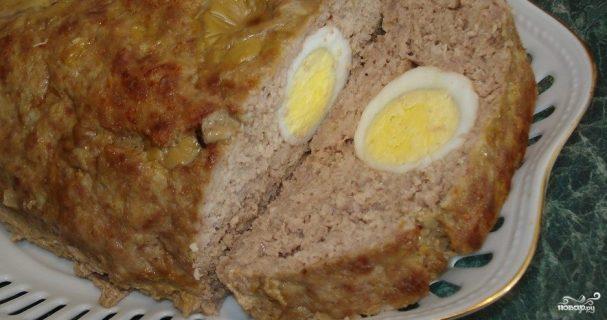 Яйца в фарше в духовке