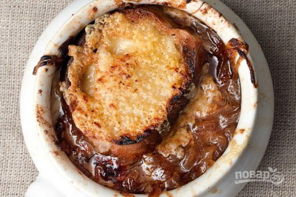 Луковый суп по-французски