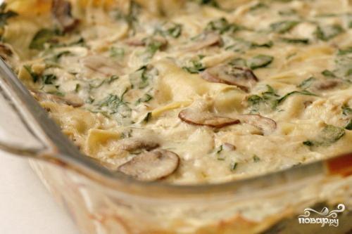 лазанья рецепт с курицей и шпинатом