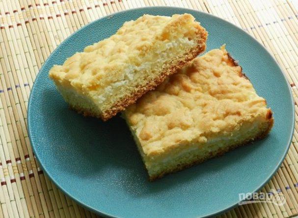 Рецепт тёртого пирога с фото с творогом