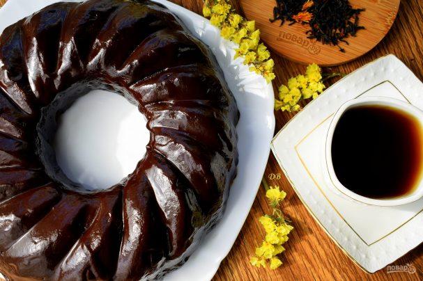 Шоколадный чайный пирог