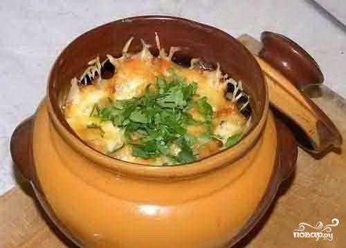 грибы в горшочке в духовке рецепт с фото