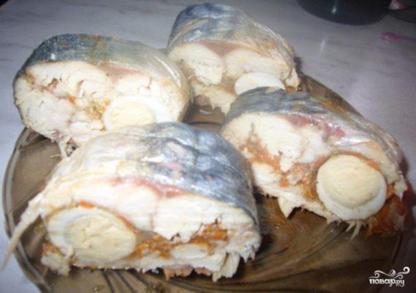 Рулет из рыбы с желатином