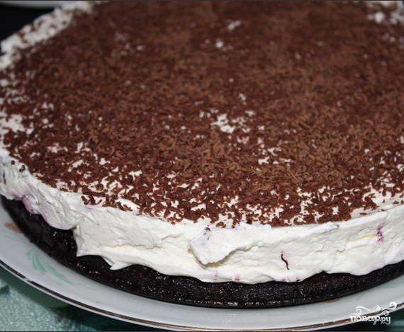 Торт с черничным вареньем