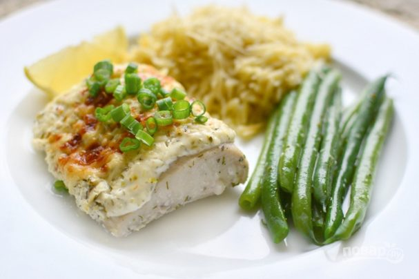Рыба в сметане в духовке