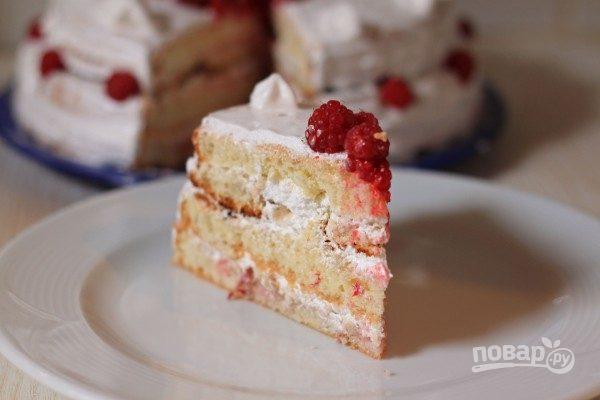 Торт с белковым кремом