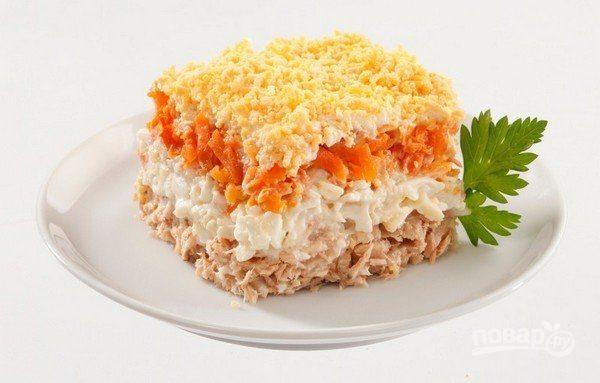 """Салат """"Мимоза"""" без картошки"""