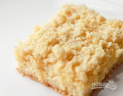 Пирог с творогом из крошки