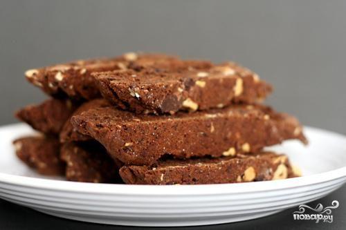 Шоколадные бискотти с миндалем