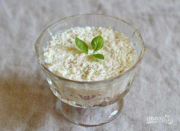 Салат из семги с сыром