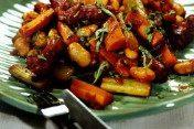 Марокканское рагу с колбасками