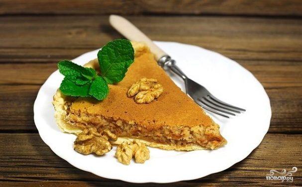 Пирог с яблочным пюре