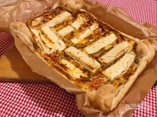 Пирог с томатами и фетой