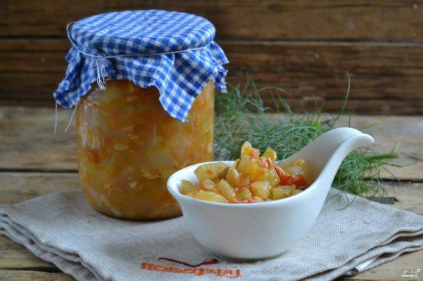 Рецепт икры из кабачков без уксуса на зиму - Икра