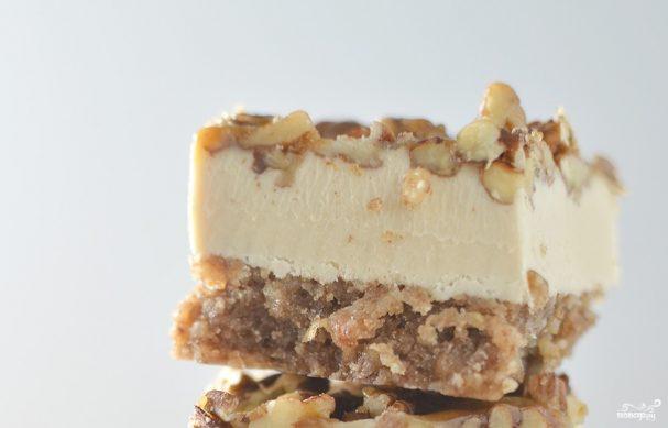 Творожный торт с орехами
