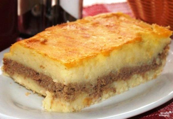 картофельная запеканка с мясным фаршем пошаговый рецепт с фото