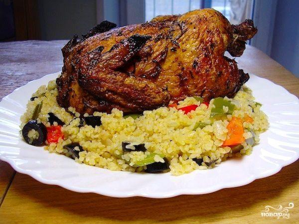 Цыпленок с чесноком и тимьяном