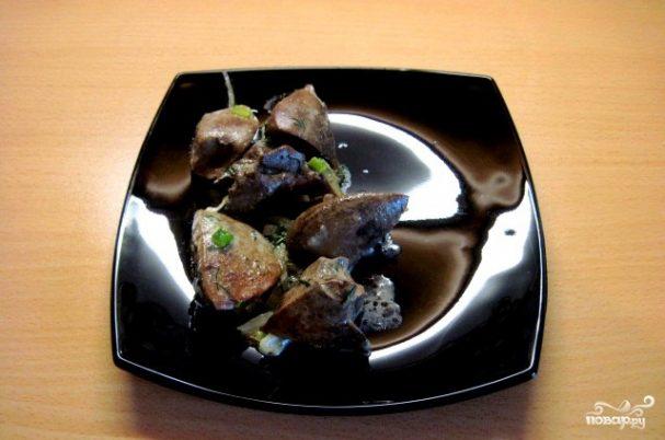 Печень индейки в сливках